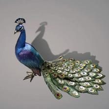 Bronze Peacock Sculpture   Barry Stein