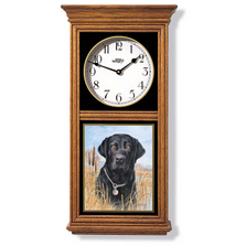 Black Lab Oak Wood Regulator Wall Clock | Wild Wings | 5982660056