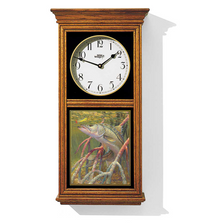 Snook Fish Oak Wood Regulator Wall Clock | In the Mangrove Roots | Wild Wings | 5982662452