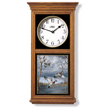 Wood Duck Oak Wood Regulator Wall Clock | Wild Wings | 5982662505