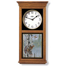 Ruffed Grouse Oak Wood Regulator Wall Clock | Wild Wings | 5982662517