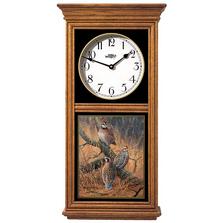Bobwhite Quail Oak Wood Regulator Wall Clock | Wild Wings | 5982662518