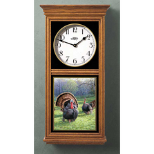 Turkey Oak Wood Regulator Wall Clock | Wild Wings | 5982662520