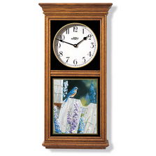 Bluebird Oak Wood Regulator Wall Clock | Wild Wings | 5982662538