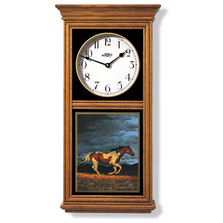 Running Horse Oak Wood Regulator Wall Clock | Wild Wings | 5982662581