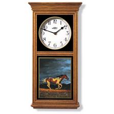 Running Horse Oak Wood Regulator Wall Clock | Wild Wings | 5982662581