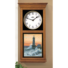 Lighthouse Oak Wood Regulator Wall Clock | Storm Tide | Wild Wings | 5982662583