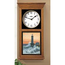 Lighthouse Oak Wood Regulator Wall Clock | Storm Tide | Wild Wings | 5982662583