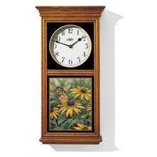 Monarch Butterfly Oak Wood Regulator Clock | Wild Wings | 5982662585