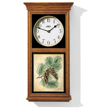 Pine Cone Oak Wood Regulator Wall Clock | Wild Wings | 5982662591