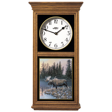 Moose Oak Wood Regulator Wall Clock | Cold Start | Wild Wings | 5982662668