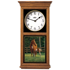 Horse Oak Wood Regulator Wall Clock | Josie | Wild Wings | 5982662781