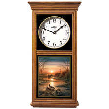Canada Goose Oak Wood Regulator Wall Clock | Shoreline Neighbors | Wild Wings | 5982663726