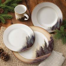 Misty Forest 16 Piece Dinnerware Set | Pine Tree Dinnerware | Wild Wings | 8209208901