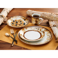 Hardwood Forest 16 Piece Dinnerware Set | Wild Wings | 8955228901