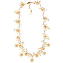 "Deco Daisy 18"" Adjustable Contour Necklace | Michael Michaud Jewelry | 9163bzgs"