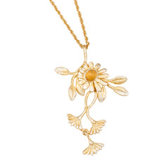 "Deco Daisy 18"" Adjustable Pendant on Chain 