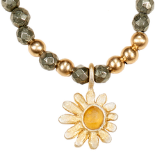 "Deco Daisy 16"" Adjustable Pendant on Pyrite 