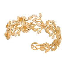 Deco Daisy Cuff Bracelet   Michael Michaud Jewelry   7275bzgs