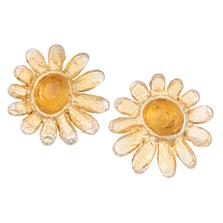 Deco Daisy Stud Post Earrings   Michael Michaud Jewelry   3258bzgs