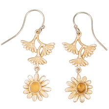 Deco Daisy Flower Dangle Wire Earrings | Michael Michaud Jewelry | 3259bzgs