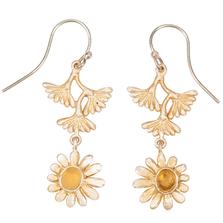 Deco Daisy Flower Dangle Wire Earrings | Michael Michaud Jewelry | 3259bzgs