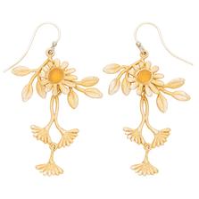 Deco Daisy Double Wire Dangle Earrings   Michael Michaud Jewelry   3260BZGS