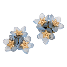Forget Me Not Triple Flower Post Earrings | Michael Michaud Jewelry | SS3272bz