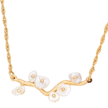 "Jasmine 16"" Adjustable Single Branch Pendant Necklace 