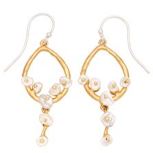 Jasmine Teardrop Dangle Wire Earrings | Michael Michaud Jewelry | 3261bzwp
