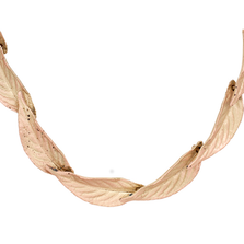 """Persian Shield 16"""" Adjustable Large Leaf Collar Necklace 
