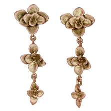Succulent Dangle Post Earrings | Michael Michaud Jewelry | 3253bz
