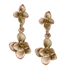 Succulent Single Dangle Post Earrings | Michael Michaud Jewelry | 3255bz
