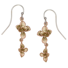 Succulent Double Dangle Wire Earrings | Michael Michaud Jewelry | 3256bz
