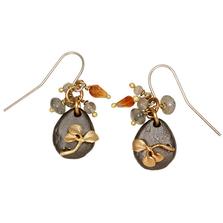 Pebble Two Tone w/Multi Stone Wire Earrings   Michael Michaud Jewelry   E103