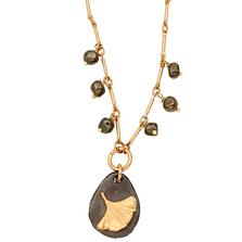 "Pebble Gingko 16"" Adjustable Small Single Pendant | Michael Michaud Jewelry | N239"