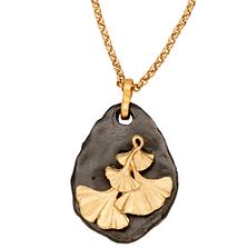 "Pebble Gingko 32"" Long Necklace | Michael Michaud Jewelry | N240"