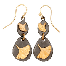 Pebble Gingko Double Wire Earrings | Michael Michaud | E139