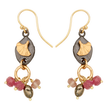 Pebble Gingko with Dangles Wire Earrings | Michael Michaud | E140