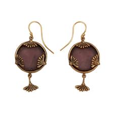 Vintage Dandelion Large Glass Dangle Wire Earrings   Michael Michaud Jewelry   E118