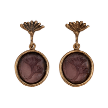 Vintage Dandelion Small Glass Post Earrings   Michael Michaud Jewelry   E120