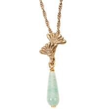 "Vintage Dandelion 16"" Necklace with Jade   Michael Michaud Jewelry   N217"
