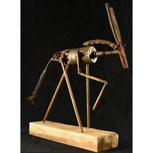 "African Antelope Metal Sculpture ""Outlaw"" 