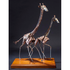 "Giraffe Scrap Metal Sculpture ""Serengeti Shuffle"" 