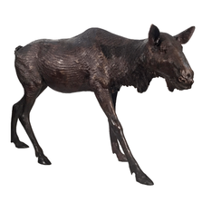 Female Moose Bronze Statue | Metropolitan Galleries | MGISRB10053-F