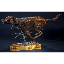 Labrador Retriever Bronze Dog Sculpture | Full Throttle | Frank Cole Art | FCSFT