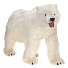 Polar Bear Life-Sized on All Fours Stuffed Animal | Hansa Toys | HTU3639