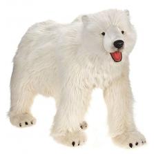 Polar Bear Life-Sized on All Fours Stuffed Animal | Hansa Toys | HTU3639