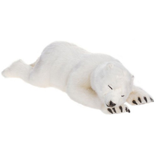 Polar Bear Cub Sleeping Large Stuffed Animal | Hansa Toys | HTU4043