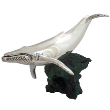 Humpback Whale Silver Plated Sculpture| 2529 | D'Argenta